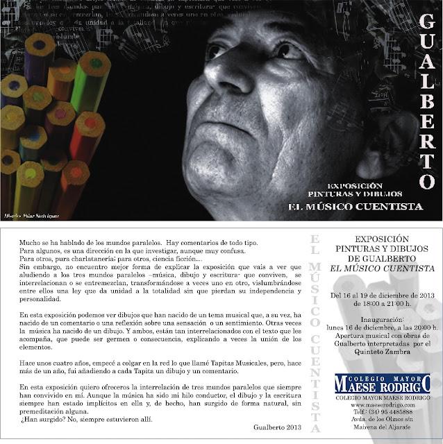 EXPOSICIÓN DIBUJOS  PINTURAS GUALBERTO