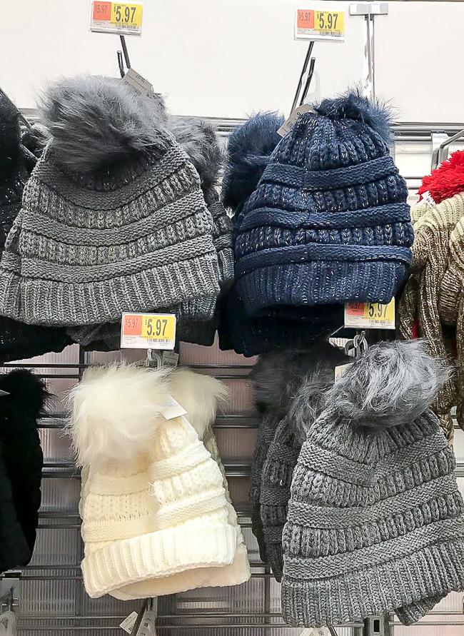 Winter beanie from Walmart