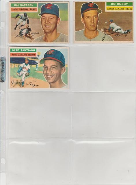 Cleveland 1956 Topps Team Set