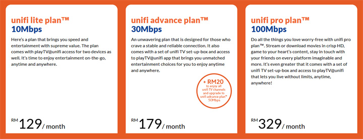 Unifi pelan internet kelajuan tinggi