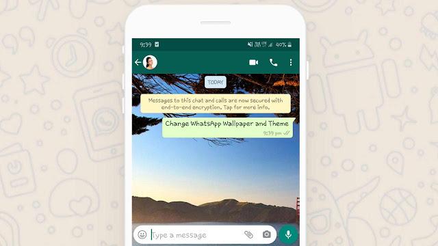 Change WhatsApp chat background
