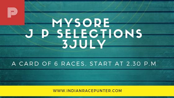 Mysore Jackpot Selections 3 July