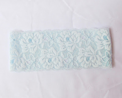 image bridal garter handmade light blue something blue two cheeky monkeys wedding custom order floral lace