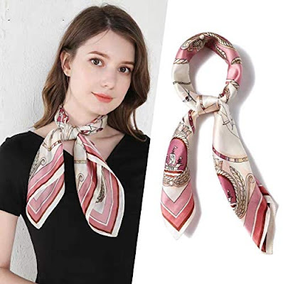 Beautiful Pink Silky Satin Scarves