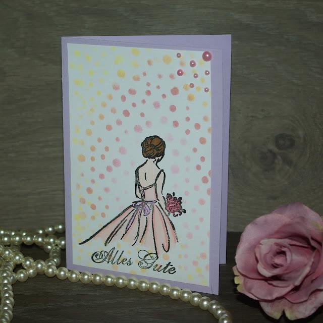 [DIY] Grußkarte zur Verlobung, zum Abschluss, Abiball, für eine Aufführung oder für Ballerinen