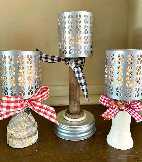 How to Make Pedestal Tea Light Candles from Found Parts
