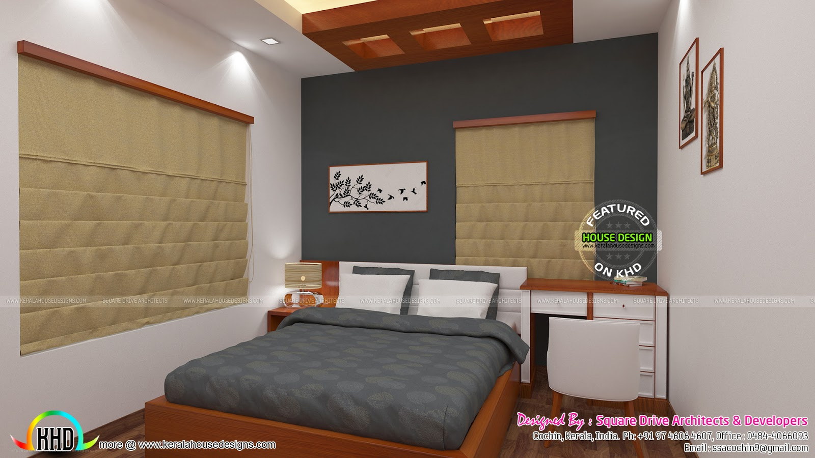 Parents And Kids Bedroom Interior Kerala Home Design And