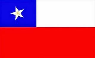 Dibujo de la bandera de Chile a colores