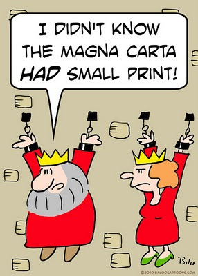 King Queen I didn't know the magna carta had small print