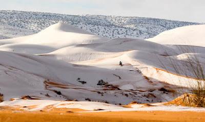 Fenomena Salju di Gurun Sahara, Normalkah?