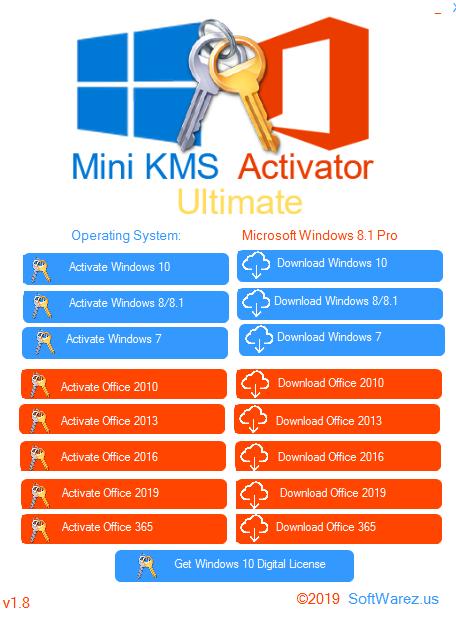 Screenshot Mini KMS Activator Ultimate 1.8