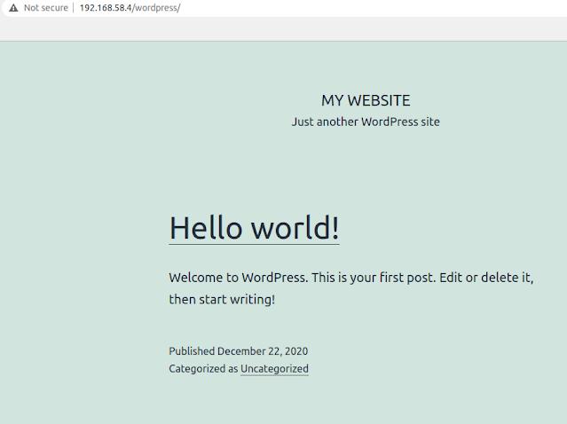 Wordpress main page