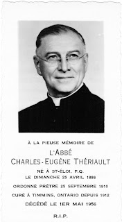 Funeral card of Father Charles-Eugène Thériault