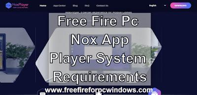 Free Fire Nox App Player