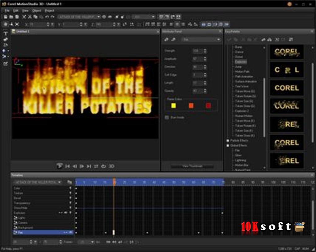 Corel Motion Studio 3D offline Setup file