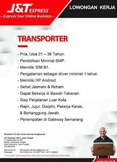 Loker Semarang Mei 2020 - Lowongan kerja J&T Express Semarang Terbaru 2020