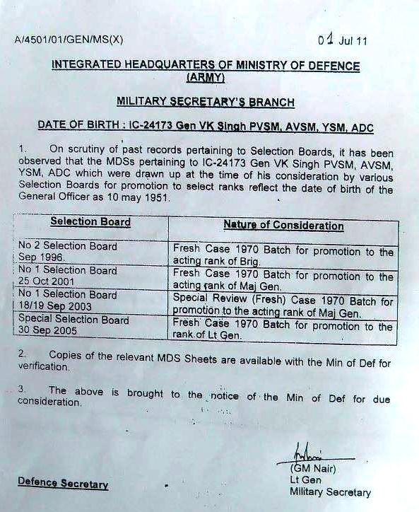military selection date