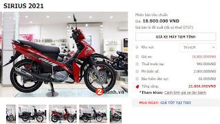 Giá Xe Máy Yamaha Sirius Vành Đúc 2021