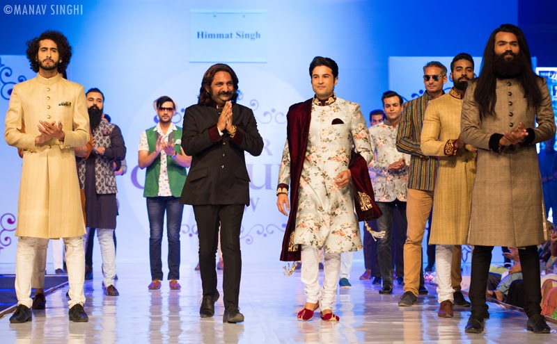 Himmat Singh and Rajiv Khandelwal at Jaipur Couture Show.