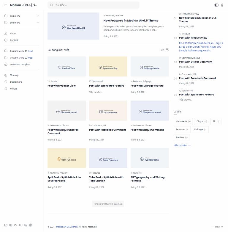 Median UI v1.5 Premium Blogger Template