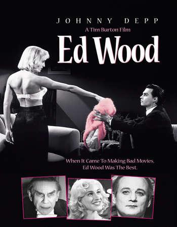 Poster Of Ed Wood 1994 English 350MB BRRip 480p ESubs Free Download Watch Online Worldfree4u