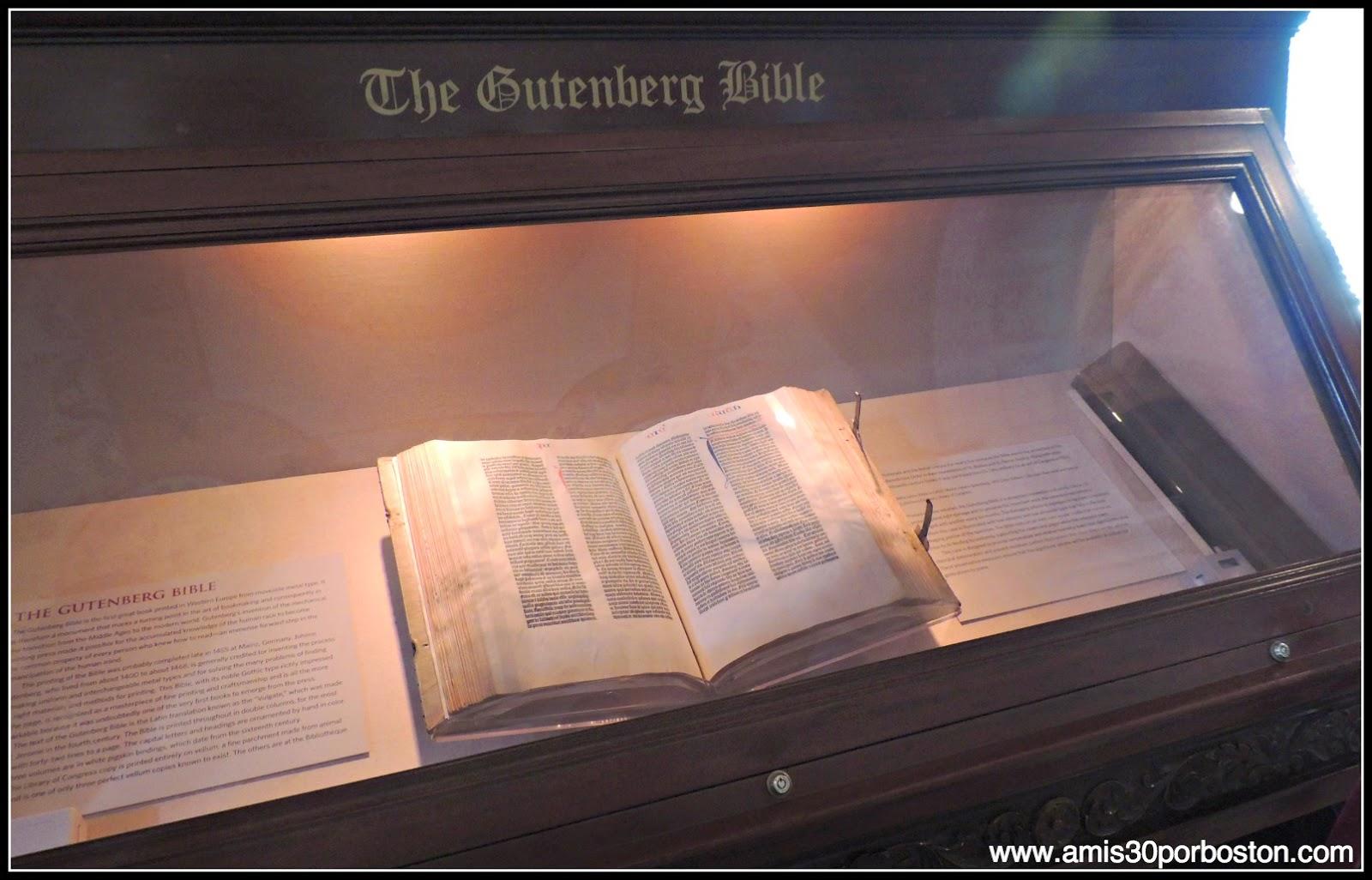 Biblioteca del Congreso de Estados Unidos. Edificio Thomas Jefferson: Biblia de Gutenberg