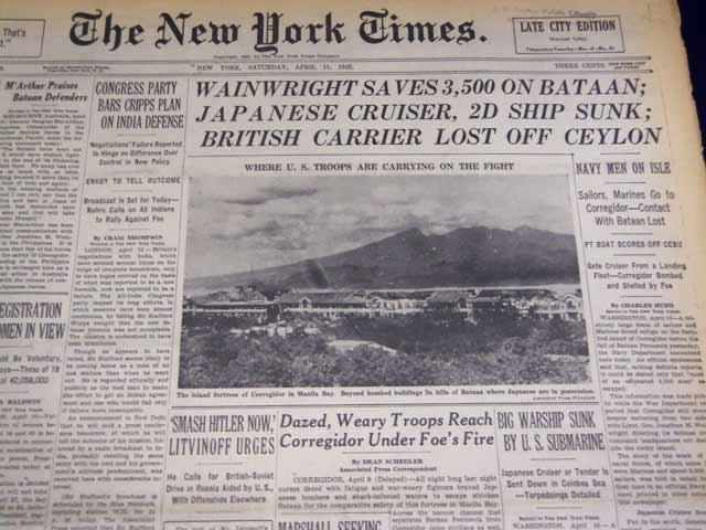 NY Times, 11 April 1942 worldwartwo.filminspector.com