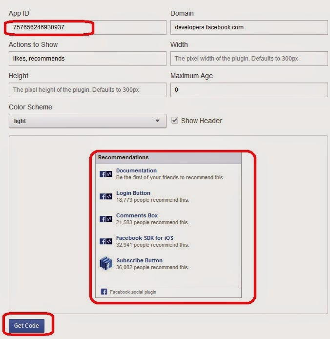Facebook Recommendation Box - Wikipedinet