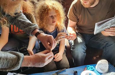Robot building family activity pre teen boys
