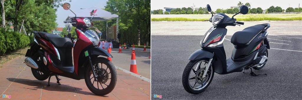 Xe tay ga tầm 60 triệu chọn Honda SH Mode hay Piaggio Liberty?
