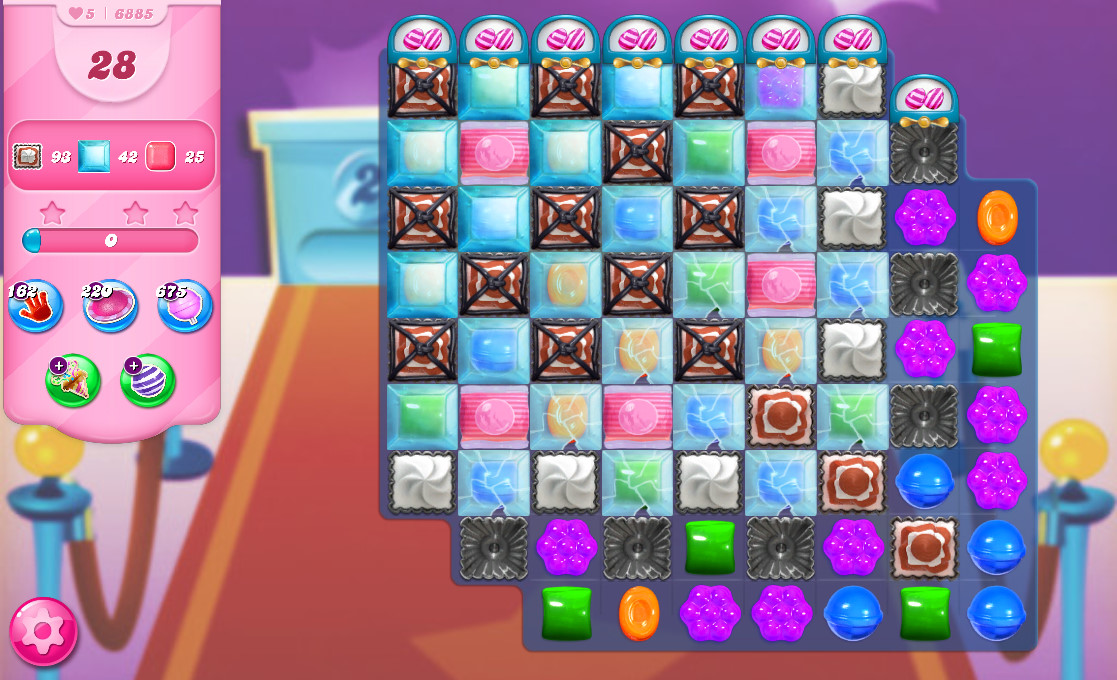 Candy Crush Saga level 6885