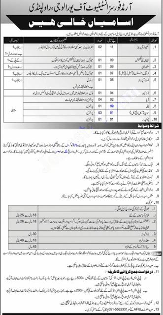 Armed Forces Institute of Urology (AFIU) Rawalpindi Jobs 2021