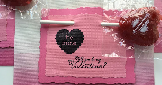 Handmade Valentine Cards with Charms LLC Valentine Pops candy