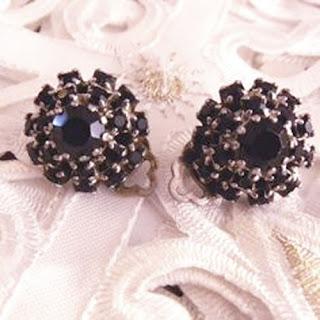 Garnet clip earrings
