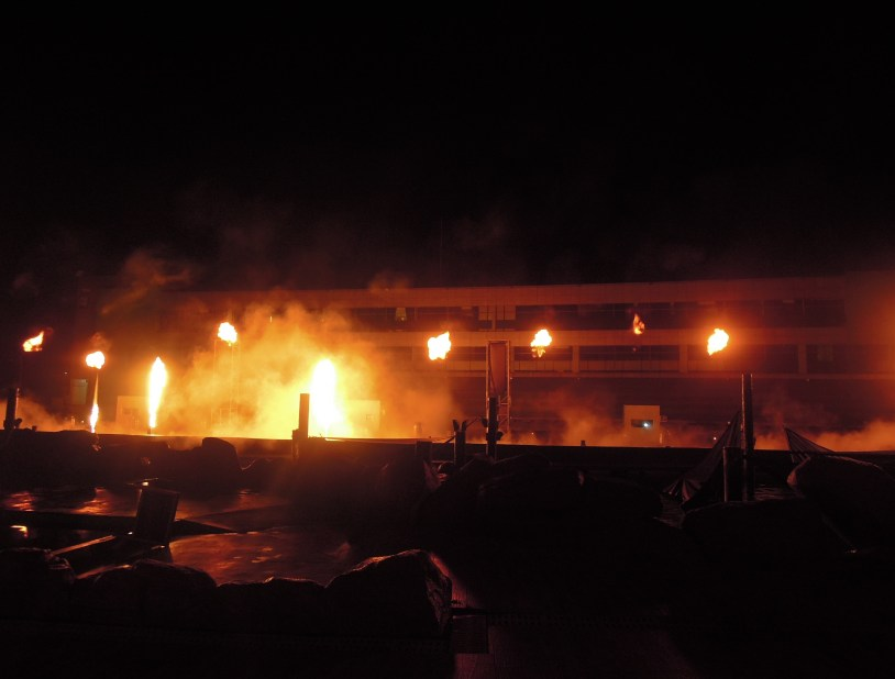 Fire show at Manila Ocean Park