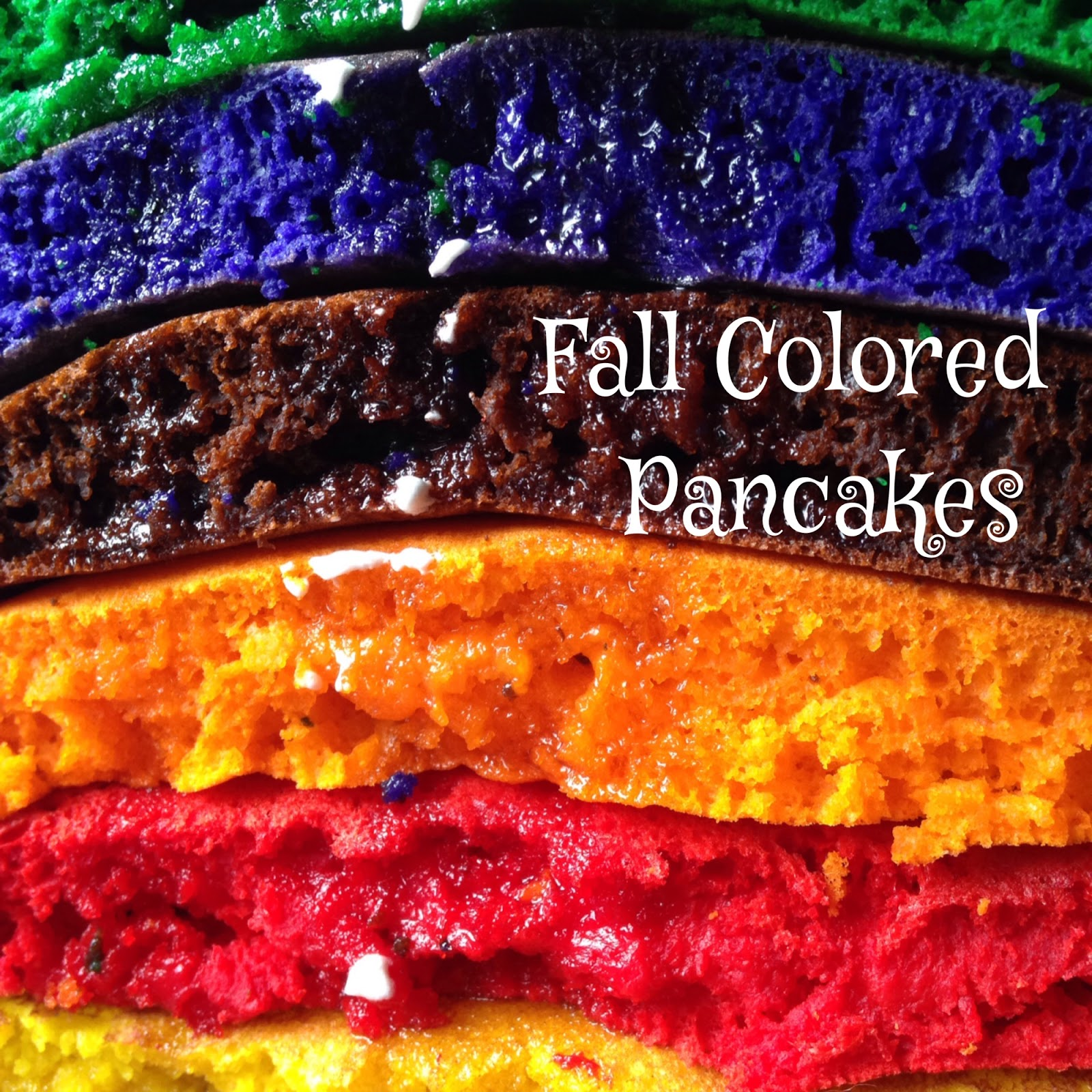Fall Colored Pancakes | Turnips 2 Tangerines