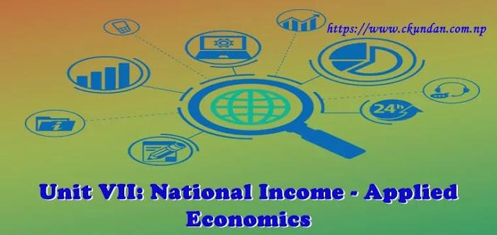 Unit VII: National Income - Applied Economics