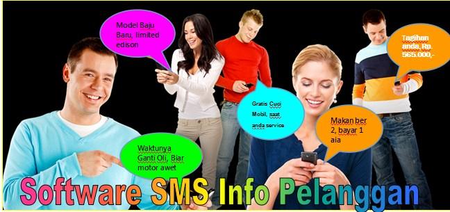 software sms info dan promosi pelanggan