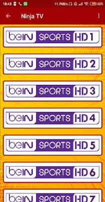 تحميل تطبيق ninja tv apk الجديد لمتابعة المباريات و الدوريات العالمية مباشرة على جهازك الأندرويد