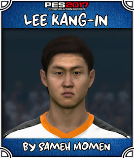 PES 2017 Faces Lee Kang-In by Sameh Momen