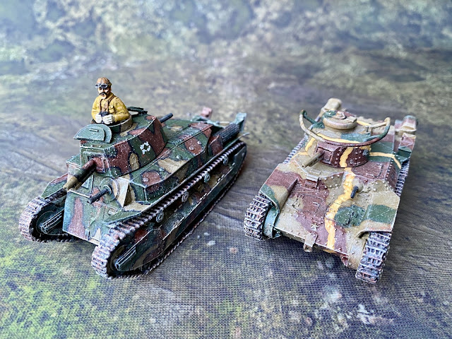 Bolt Action 28mm Company B Type 89 Tank vs Warlord Type 97 Tank Sizes