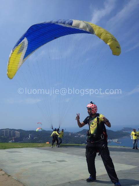 Taiwan paragliding