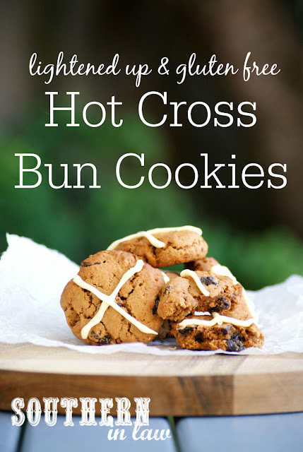 Healthy Hot Cross Bun Cookies Recipe - low fat, gluten free, healthy, easter cookies recipe, low fat, sugar free, low calorie dessert recipes