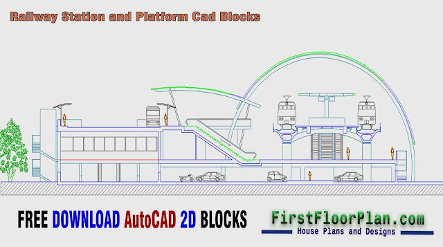 Railway Station Cad Blocks, railway station plan dwg free download, railway track autocad block, railway track autocad drawing, train car cad, railway platform dwg, metro rail