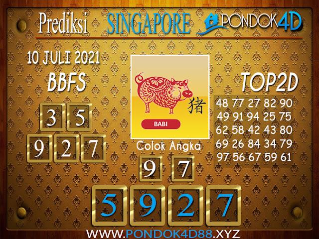 Prediksi Togel SINGAPORE PONDOK4D 10 JULI 2021