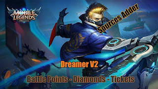 Mobile Legends Add Battle Points,Tickets,Diamonds With Dreamer v2