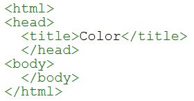 Green Color for HTML tag and tag name
