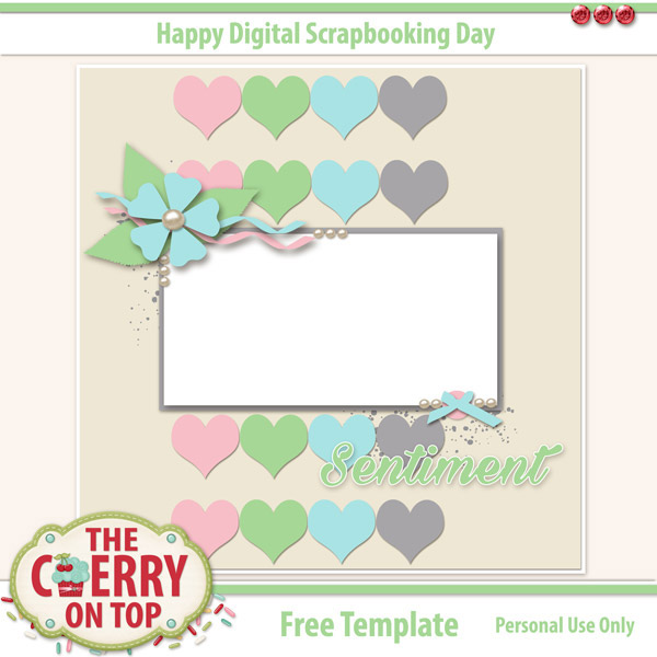 The cherry on top october 39 s blog train with a free for Farewell scrapbook template