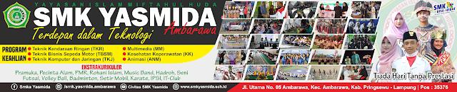 Desain Banner Spanduk Sekolah SMK Yasmida Ambarawa