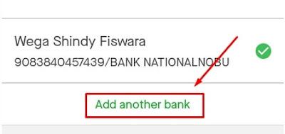Menambahkan Rekening Bank GOPAY